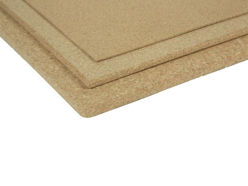 Agglomerated cork sheets