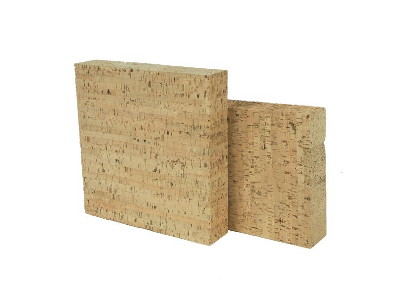 Natural cork blocks